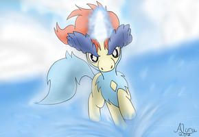 The Sacred Swordsman - Keldeo by FoxRodDraws