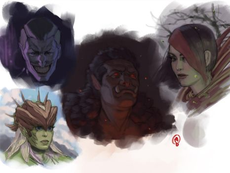 Sketchbook - Heads and Colors by Changinghand