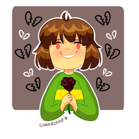 Undertale Rose Collection - Chara by CubedCake