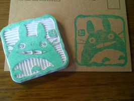 My Neighbor Totoro - Rubber stamp by dunkleLamm