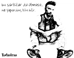 Tarkan | Charcoal Drawing by Tarkanistan by Tarkanistan