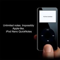iPod Nano QuickNotes Skin by LTZ