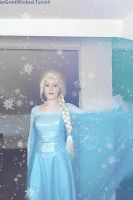 Let the storm rage on Elsa cosplay gif by MissWeirdCat