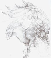 WIP Weaving feathers.... by Dragynfyre-of-Ice