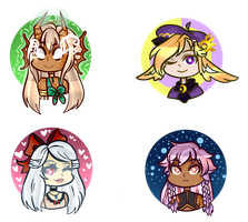 [Art Payment]: JKDreamer Button Batch 3 by SimplyDefault