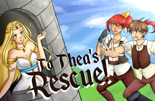 RPGmaker Game: To Thea's Rescue! Released by cyberbubble99