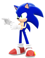 Classic Sonic Pose by JaysonJeanChannel