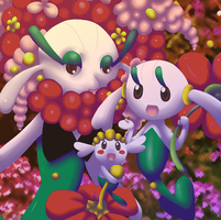 Evo Chain: Flabebe Floette Florges (animated)