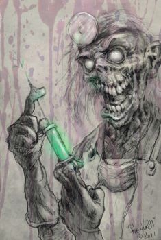 Scary Skull Doctor concept art by TheGurch