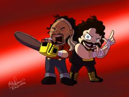 Chainsaw Charlie and Cactus Jack by NoDiceMike