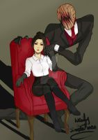 Naily And Slenderfather by Unconscioustomato