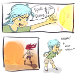 Response Comic: Miss Spell by z0mdee