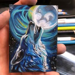 33- Howling Wolf ACEO by Lucky978