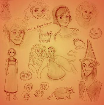 Lena+Lions sketches by Sukeile