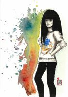 blue and orange by edding142