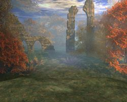 Fall forest background by indigodeep
