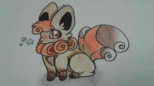Vulpixee  (Fusion of Vulpix and Eevee) by RoxyGold
