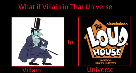 Snidely Whiplash in The Loud House by DarthWill3