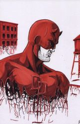 Daredevil-Red Suit by shinlyle