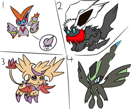 Pokemon fusion adoptables (CLOSED) by Axial97