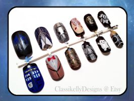 Doctor Who Nail Art by Classikelly