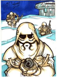 Snowtrooper Sketch Card by mdavidct