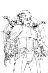 Star Wars #22 Cover Pencils by TerryDodson