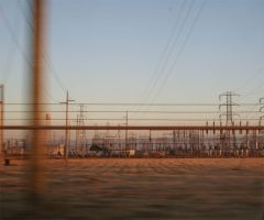 Trains Wires and Land by e-tahn