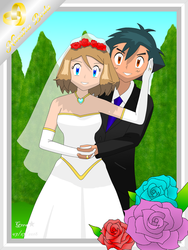 Amourshipping AshXSerena:JustMarried RecienCasados by mglm12
