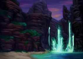 Luminescent Falls by Darantha