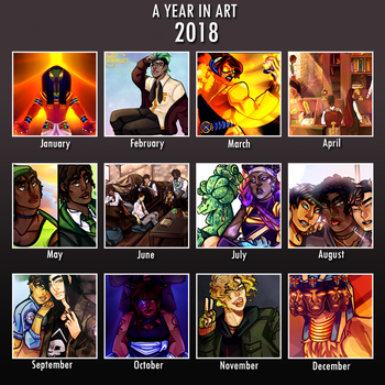 A year of art 2017 eddition by J-E-R-I-C-H-O