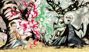 Harry vs. Voldemort Color by wheels9696