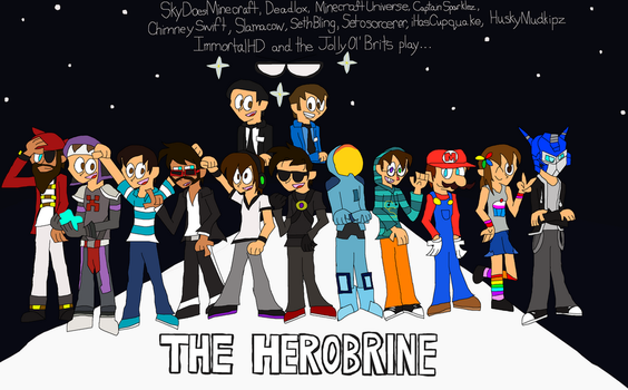 The Herobrine Minigame ft. YouTubers by hoshigirl21