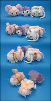 Stacking Plush: Queen, King and Princess Chibi-Usa by Serenity-Sama