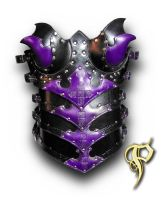 Purple Female Armored Corset by Azmal
