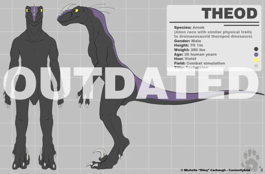 Theod - Reference Sheet [OLD] by CanineHybrid