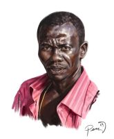 African-Man-Quick-Portrait by MikePerryArt