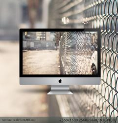 Wire Fence Wallpaper by hombre-cz