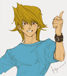 Kazuki Takahashi's Sketch of Joey [Colored] by josephinedisney