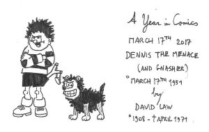 March 17th - Dennis the Menace and Gnasher by kanyiko