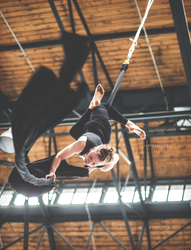 Aerial silk at Triple Hall Karolina - Ostrava by Zavorka