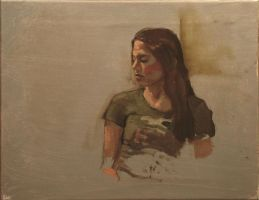 portrait study in oil by Remnant1987