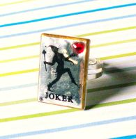 Joker Card Ring by Cuddlebugeeshi