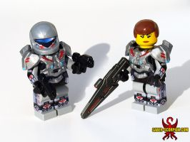 Custom LEGO Sarah Palmer (Halo 4) by Saber-Scorpion