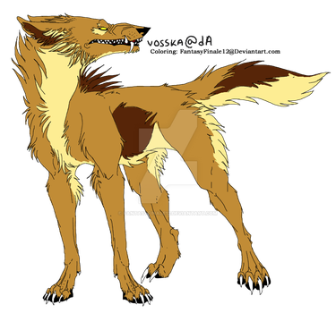 Wolf Lineart Coloring (Plyth 2) by FantasyFinale12