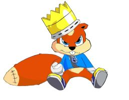 Conker THE KING colored by sav8197