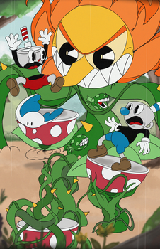 Cuphead - Cagney Carnation by pluuck