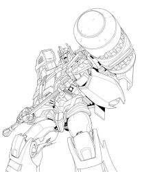 TF Platinum Ultra Magnus package art pencils by MarceloMatere