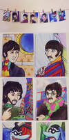 Yellow Submarine Trading Cards by thepicketywitch