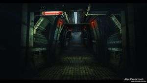 Lab containment hallways by alexdrummo